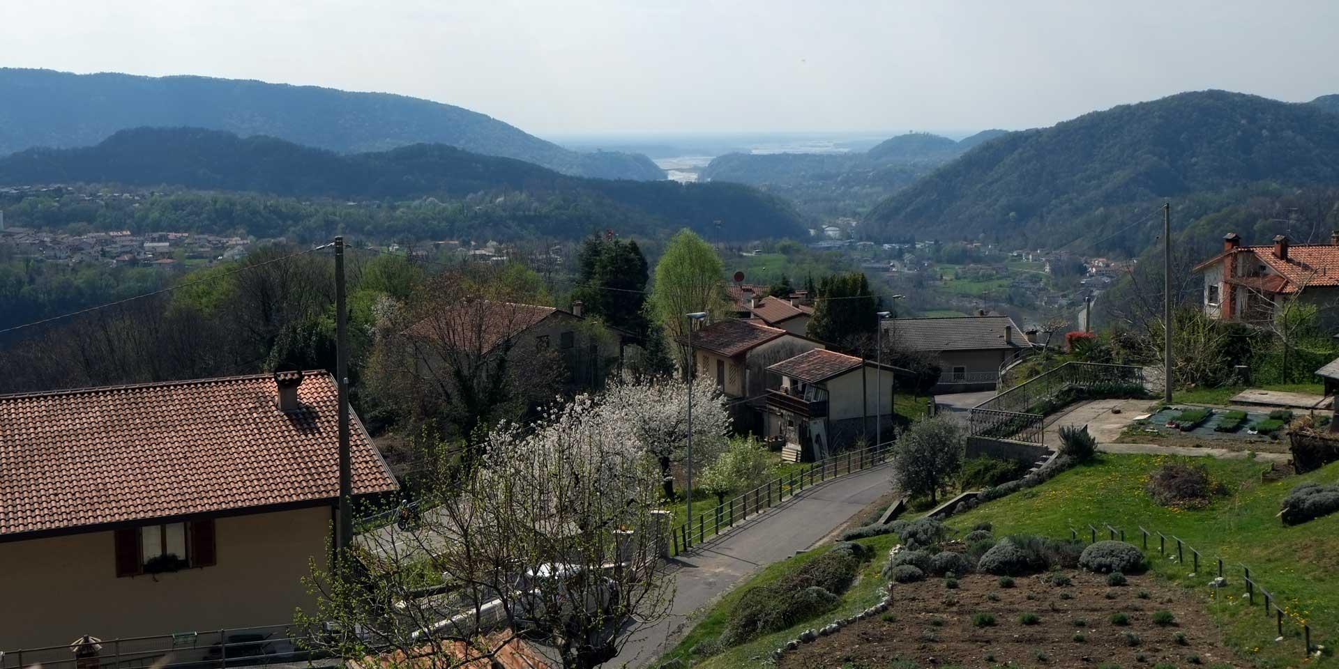 Vista da Anduins, Vito d'Asio, comune parte del Consorzio delle Valli e delle Dolomiti friulane